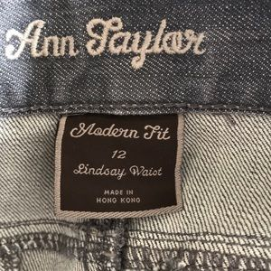 Ann Taylor Jeans - Ann Taylor Lindsay fit gray jeans